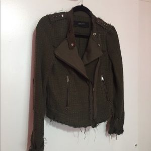 ZARA New With Tags Olive Green Size S Jacket